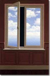 The Field Glass by Rene Magritte